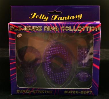 Set erectie Pleasure Ring Collection, Jelly Fantasy, 4 piese